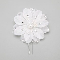 Flower Shaped Rhinestone/Imitation Pearls Hairpins (Sold in single piece)