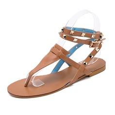 Women's Leatherette Flat Heel Sandals Slingbacks shoes