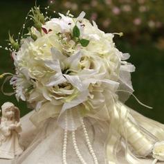 Привлекательный Круглый атласная Свадебные букеты