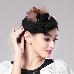 Ladies' Elegant Spring/Autumn/Winter Wool/Net Yarn With Fascinators