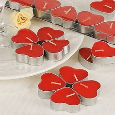 Heart-Shaped Red Tealight Candles (Set of 7 Boxed)(096017651)