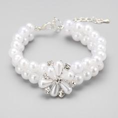 Elegante Aleación/Perlas de imitación Señoras' Pulseras
