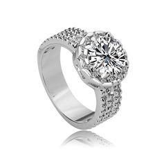 Magnificent Copper/Zircon/Platinum Plated Ladies' Rings