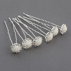Classic Alloy/Imitation Pearls Hairpins(Set of 6)