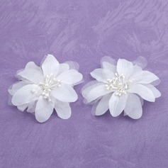 Beautiful Satin Flowers & Feathers (Set of 2)