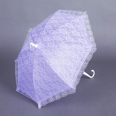Sød Terylene/Lace Bryllup Paraplyer med Broderier