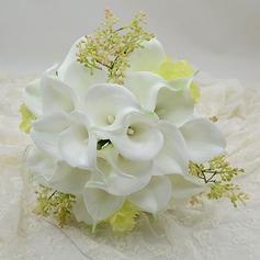 Refined Round Simulation PU Materials Bridal Bouquets