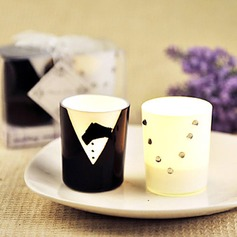 Bride and Groom Candles Favor Set (Pair)(096017634)