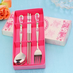Flower Design Hard plastic Cutlery set