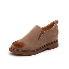 Women's Suede Flat Heel Flats Platform Ankle Boots shoes