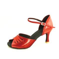 Women's Leatherette Sparkling Glitter Heels Pumps Latin With Buckle Dance Shoes