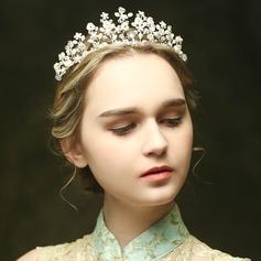 Hecha a mano Crystal/La perla de faux Tiaras