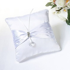 Delicate Allure Ring Pillow In Satin With Ribbons And Rhinestone (More Colors)(103018390)