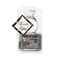 "Classic ""With this ring"" Chrome Keychains"