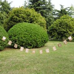 """L'amore è dolce"" Carta Kraft con corda tela Fotobox puntelli/Banner"