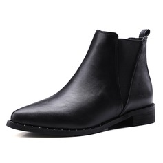 Women's Leatherette Low Heel Boots shoes