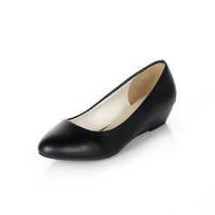 Leatherette Wedge Heel Pumps Wedges shoes