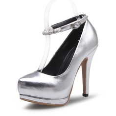 Women's Leatherette Stiletto Heel Pumps Closed Toe shoes (085092186)