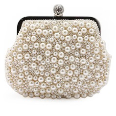 Gorgeous Pearl With Rhinestone Clutches/Evening Handbags