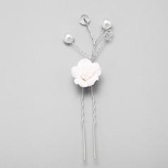 Elegant Alloy/Imitation Pearls/Ceramic Hairpins (Set of 3)