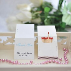 "Personalized ""Thank You"" Hard Card Paper Matchboxes"