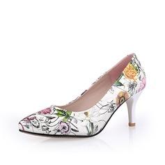 Leatherette Stiletto Heel Pumps Closed Toe shoes