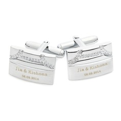 Personalized Rectangular Stainless Steel Cufflinks