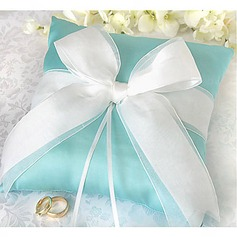 Ring Pillow In Satin With Bow And Rhinestone (More Colors)(103018245)