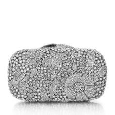 Elegant Rhinestone/Silver Plated Bridal Purse/Luxury Clutches