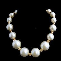 Elegant Pearl With Rhinestone Ladies' Necklaces