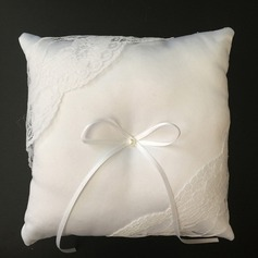 Elegant Ring Pillow in Satin/Lace With Ribbons/Bow