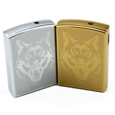 Personalized Wolf Design Stainless Steel Electronic Lighter