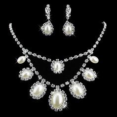 Beautiful Alloy/Pearl With Rhinestone Ladies' Jewelry Sets