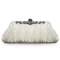 Beige Gorgeous Silk Evening Clutches  (012005434)