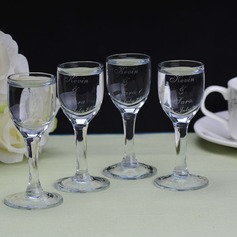 Personalized Simple Design Glass Toasting Flutes