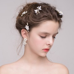 Special Alloy/Imitation Pearls/Silk Flower/Plastic Hairpins (Sold in a single piece)