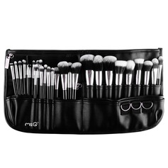 29Pcs Artificial Fibre Makeup Supply With Black PU Bag