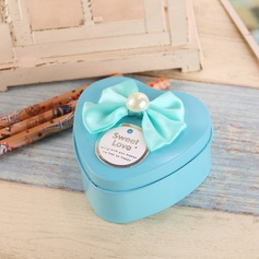 Sweet Love Heart-shaped Favor Tin With Bow