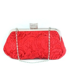 Gorgeous Satin With Lace/Rhinestone Clutches