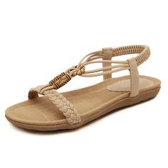 Kvinner Lær Flat Hæl Sandaler med Annet sko