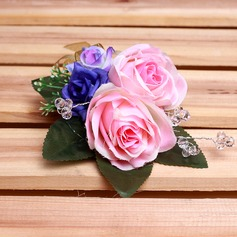 Charming Free-Form Satin Boutonniere