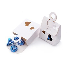 Double Heart Favor Boxes With Ribbons