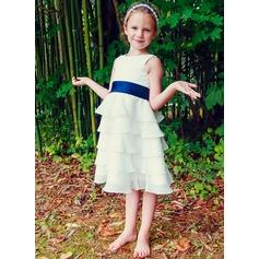 Princess Chiffon Girl Dress With Sash (010089504)