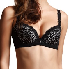 Chinlon Detachable Straps Dramatic Lift Sexy/Dance Bra