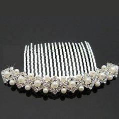 Encanto Aleación/Piedras checas con Perla Señoras' Joyería del pelo
