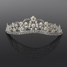 Gorgeous Rhinestone/Alloy/Pearl Tiaras/Headpiece