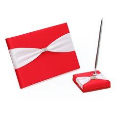 Prakten Strass/Skärpband Gästbok & pennuppsättningen