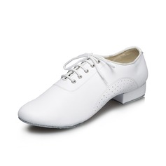 Men's Leatherette Flats Latin Dance Shoes