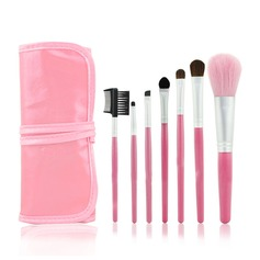 Pink Bag Professional Makeup Brushes (7 Pcs )