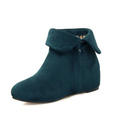 Suede Wedge Heel Wedges Ankle Boots shoes